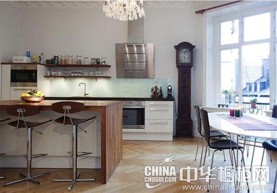橱柜吧台隔断餐厨 半开放式厨房设计