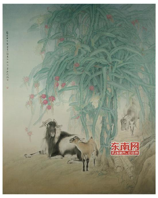 """线条细腻的《火龙呈祥》工笔画,出自东山""""画羊""""能手,青年画家柳财顺之"""