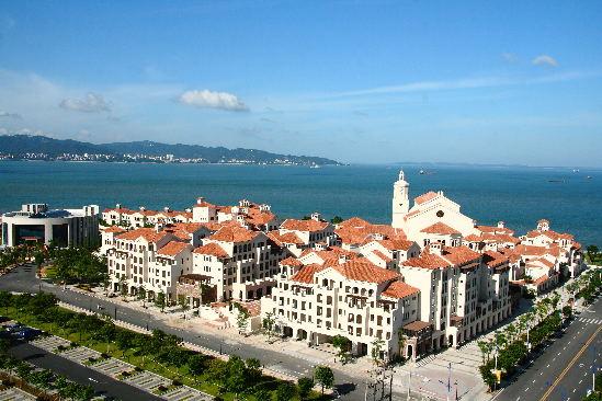 双鱼岛是漳州港生态造城的点睛之笔.